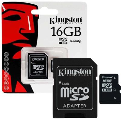 Карта памяти SD Micro 16Гб Kingston Class 10