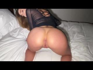 Наташа. Насколько я сексуально в черном платье? ( czech pov blowjob doggystyle cum tits fitness girl fit babe homemade домашнее