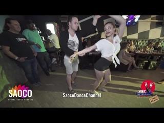 Patrick Steindl и Светлана Левченко танцуют сальсу на пре-пати 3 Front Relax