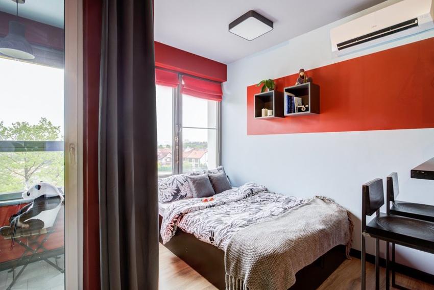 Интерьер квартиры-студии 29,5 м (с лоджией - 31 м) в Москве.