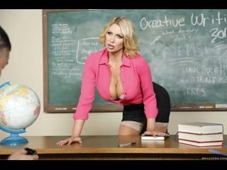 Трахнул училку с пышными формами,с переводом (Leigh Darby,инцест,milf,минет,русское,секс,анал,мамку,сиськи,brazzers,зрелую)