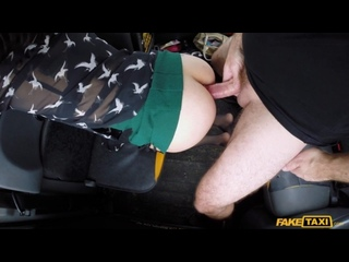 Paid for the taxi with her ass (anal, hardcore, extreme, client, ride, prostitute, pickup, driver, car, clothed, public)