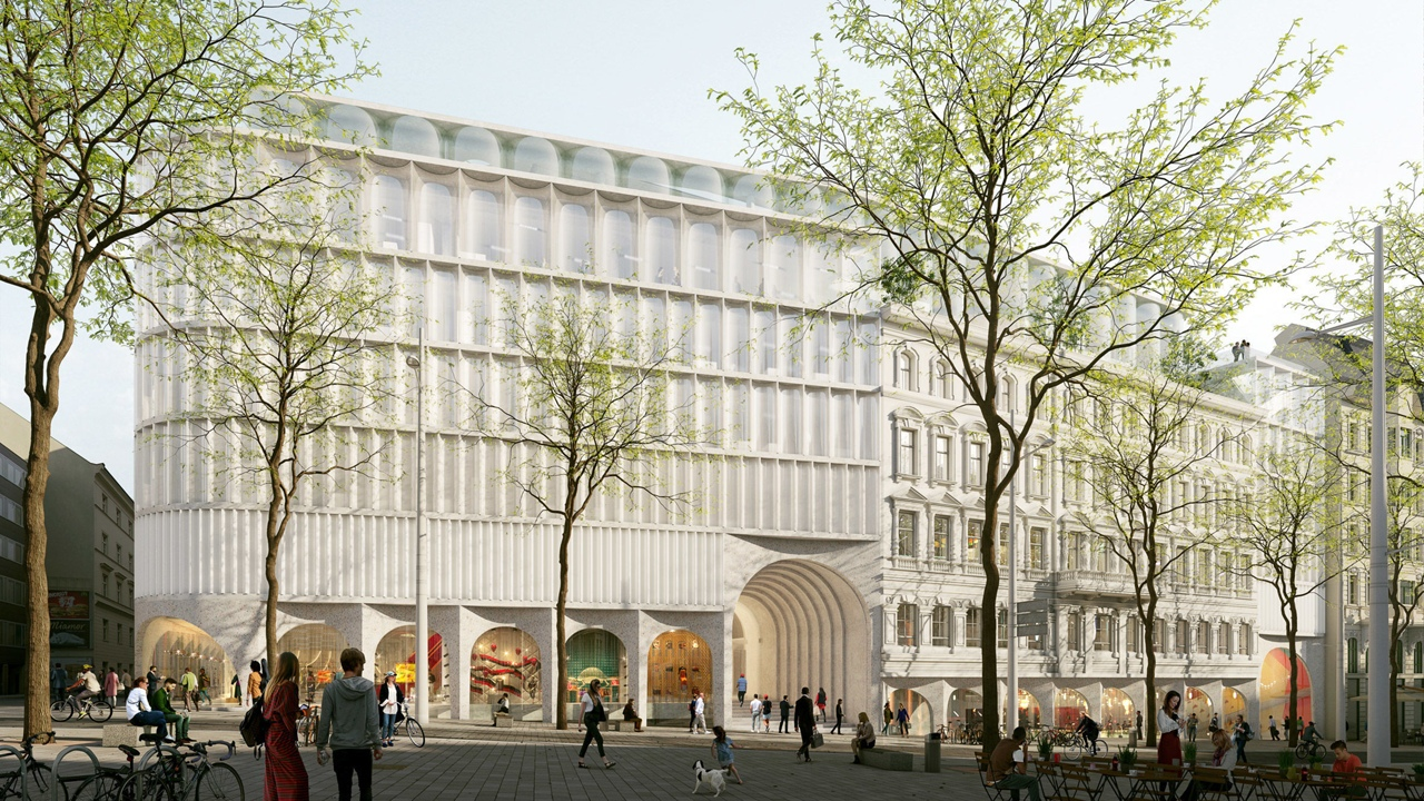 OMA designs The Link department store and hotel in Vienna