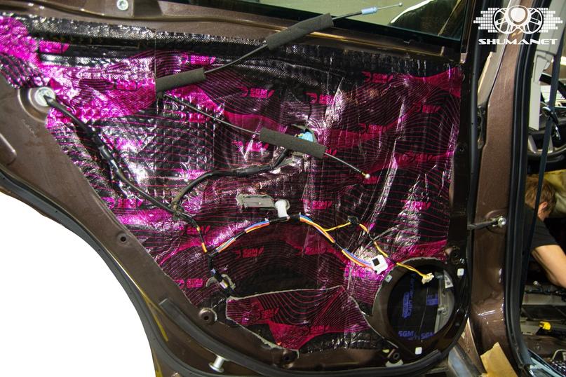 Комплексная шумоизоляция салона Subaru Outback., изображение №16