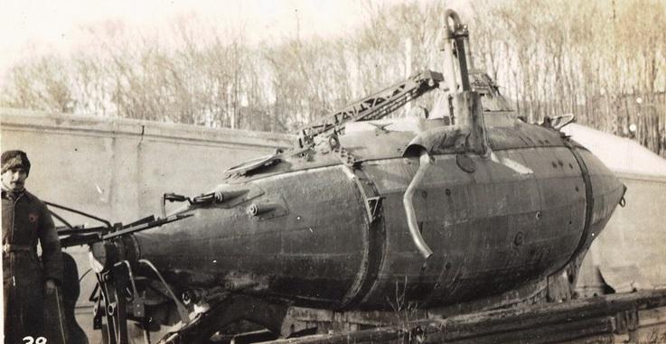 Подводная лодка конструкции лейт. А.С. Боткина, январь 1920 года