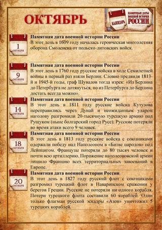 Памятные даты, знаменательные события