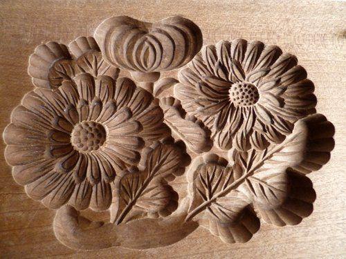 Японские деревянные резные формы Кашигата, изображение №21