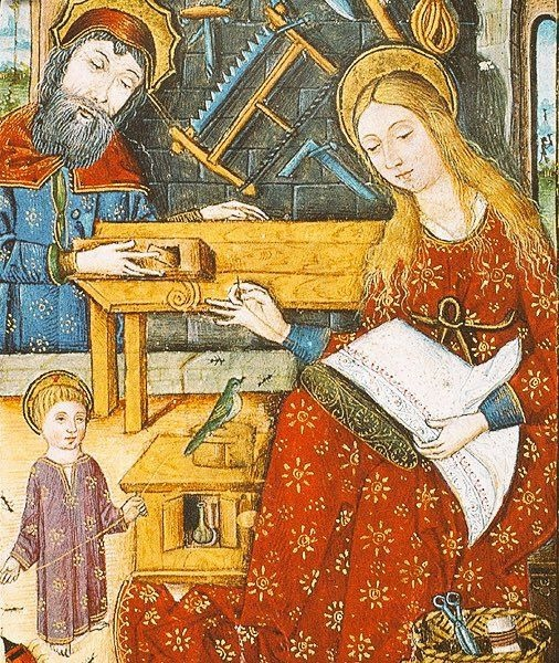 """""""Spanish Book of Hours, Holy Family (1460s)"""""""