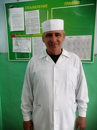 Гунин Владимир Владимирович – младший медицинский брат, стаж 31год.