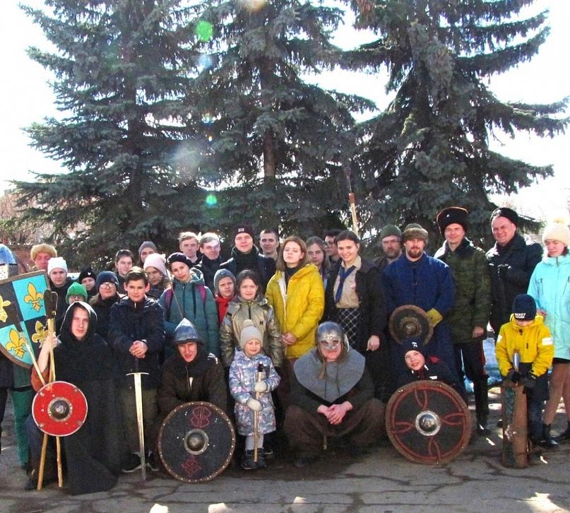 """Скауты дружины """"Кострома"""" приняли участие в мероприятии, посвященном Ледовому побоищу"""