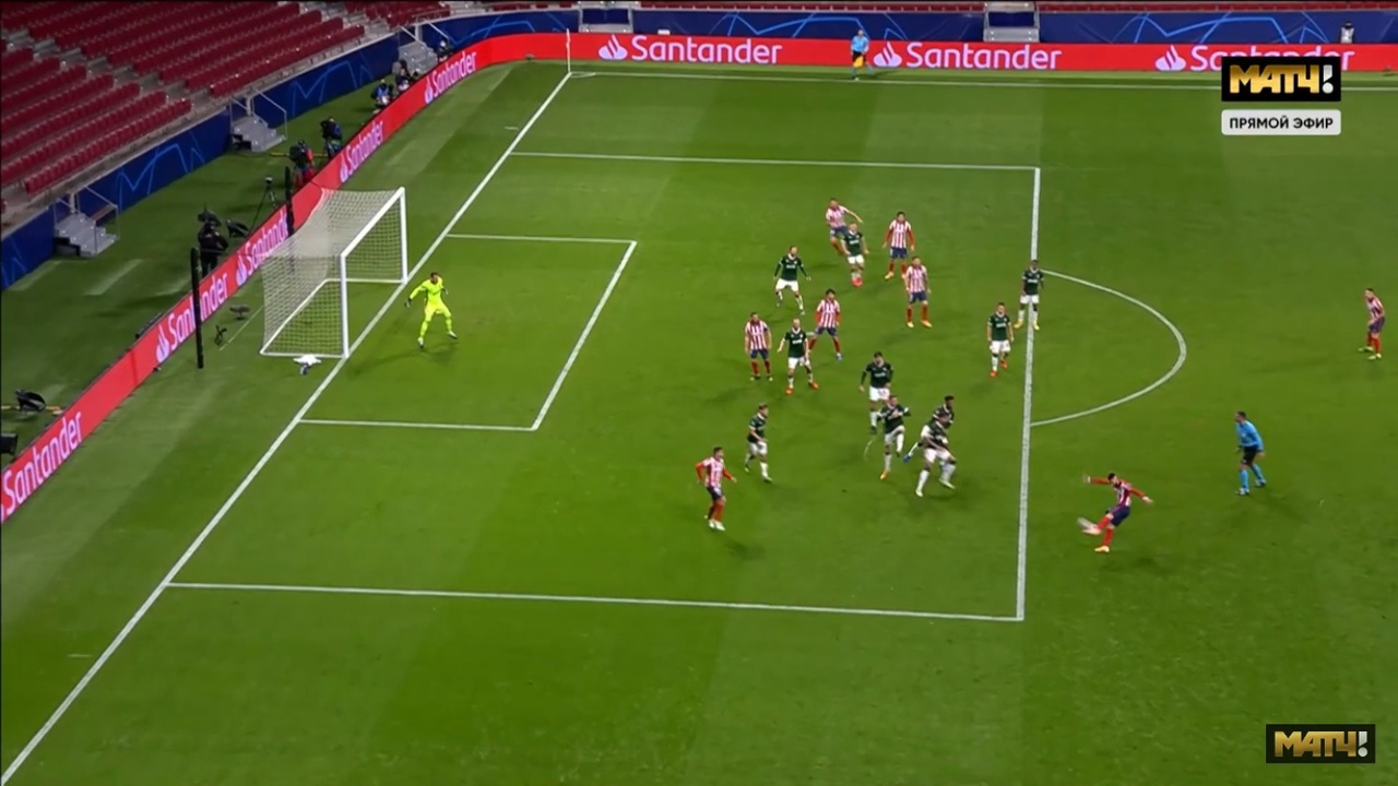 Атлетико Мадрид - Локомотив, 0:0. Эпизод с незасчитанным голом Атлетико