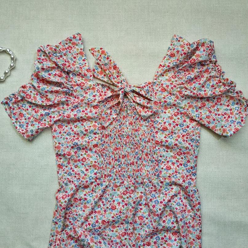 Летнее платье в цветочек #Queechalle