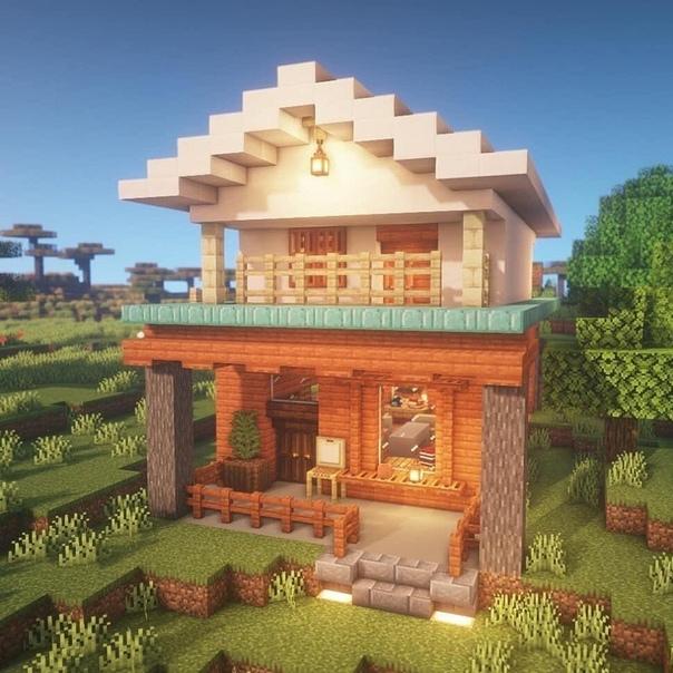 как построить в майнкрафте дом на сайте мир #5
