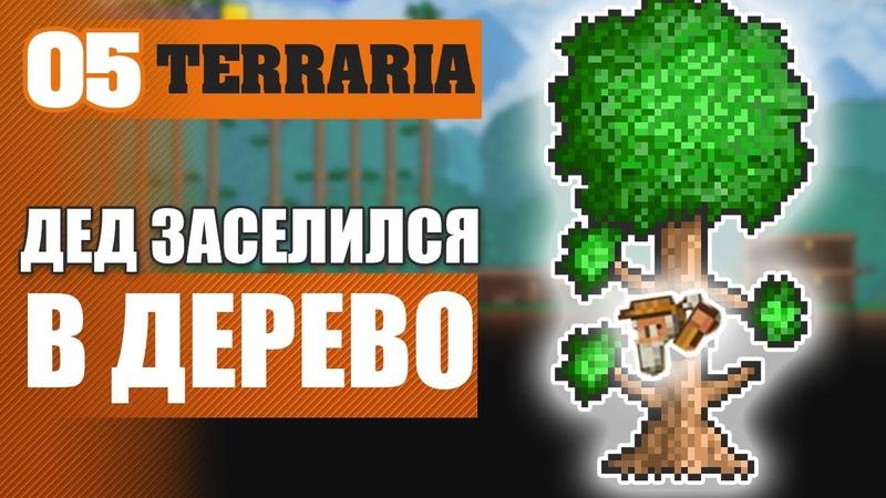 ДЕД ЗАСЕЛИЛСЯ В ДЕРЕВО 5 TERRARIA 1 3 5 3 ПРОХОЖДЕНИЕ