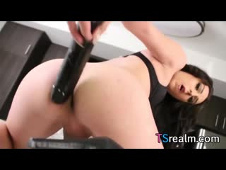 Chanel santini webcam big black dildo (shemale tgirl tranny sissy) [720]