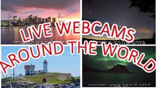 Live Around the World Webcams - with Lite Jazz Music