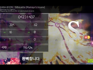 KANA-BOON - Silhouette  Mamayu's Insane + HR + HD + FC + S96,42%
