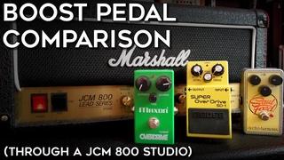 Boost Pedal Comparison (through a JCM 800 Studio)