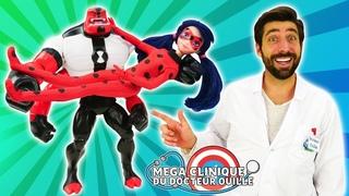 Ben 10 Quatre Bras et Miraculous Ladybug à La Mega Clinique #33. Vidéo pour les enfants