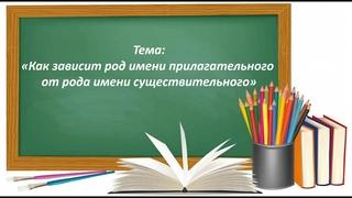 Русский язык 2 класс. «Как зависит род имени прилагательного от рода имени существительного»
