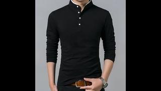 Лидер продаж 2021, весенняя мужская футболка с длинным рукавом, базовая однотонная блузка, футболка, топ, повседневная
