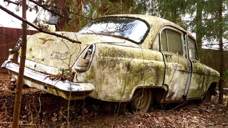 Rusty Abandoned russian Muscle Car full RESTORATION. Incredible Restoration from trash to Hot Car