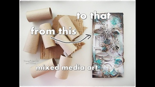 Mixed Media from Toilet Rolls and Cardboard ♡ Maremi's Small Art ♡