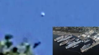 Disk Over US Military Ship Yard Bremerton, Washington On 1-21, 2021, UFO Sighting News.