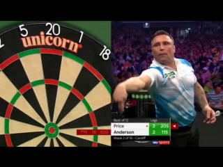 Gary Anderson vs Gerwyn Price (2018 Premier League Darts / Week 2)