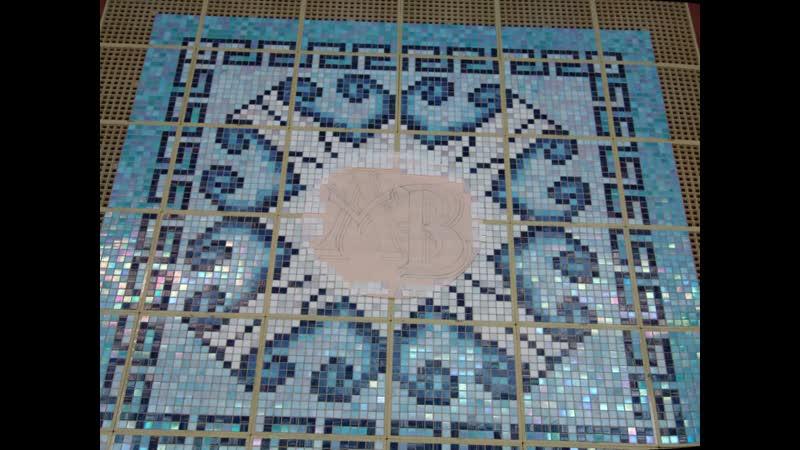 Мозаичное панно на дно чаши Бассейна
