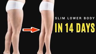 Slim Butt/Thigh/Calves in 14 DAYS! 12 Min STANDING Intense Lower Body Workout, No Equipment