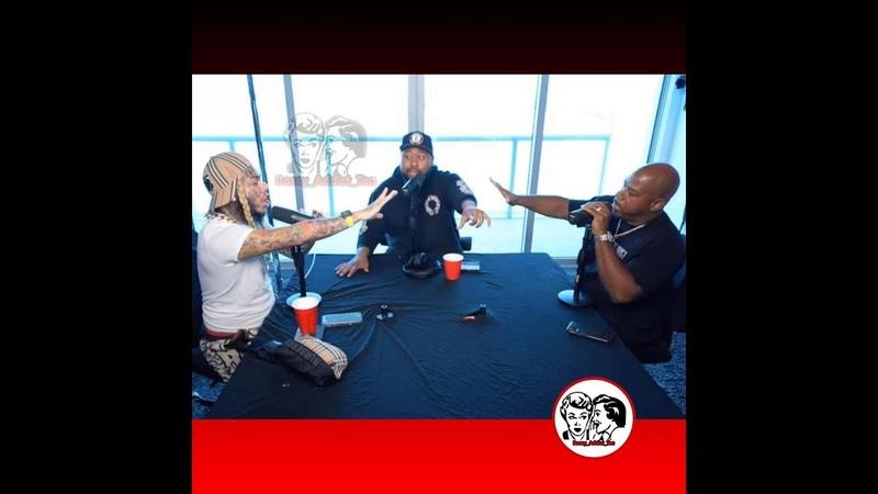 6ix9ine yells at Wack 100 Akademiks interview clip