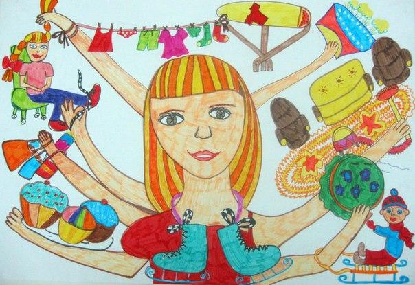 Рисунок на тему магазин глазами ребенка