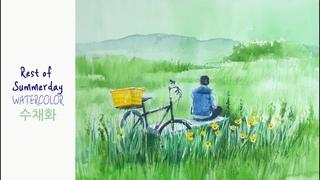 choeSSi art / landscape painting최병화수채화/여름날의 휴식tutorial of watercolor