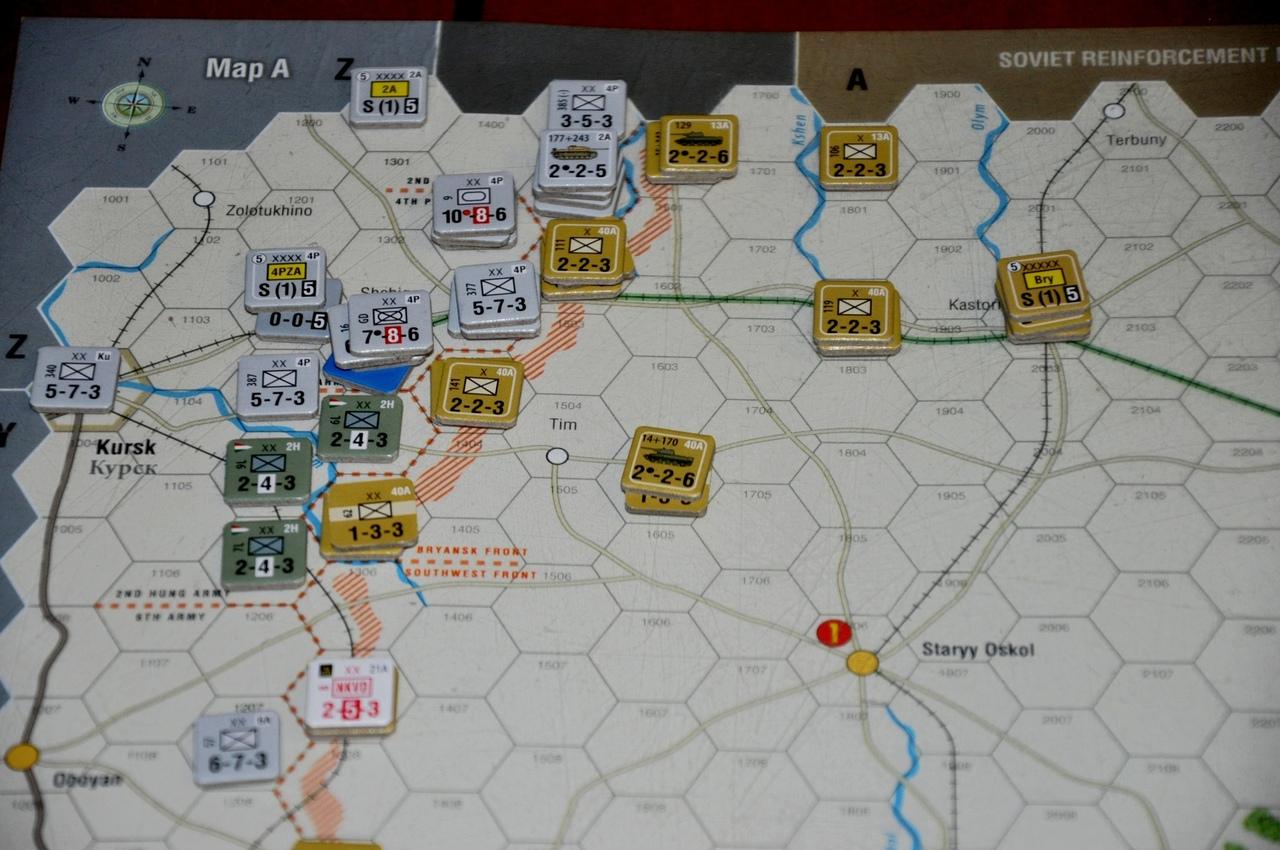 Советские же части начинают в подготовленных позициях, но их совсем скоро выбьют оттуда