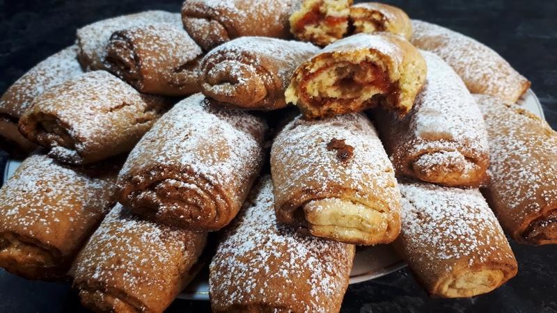 Трубочки с Начинкой Простой Быстрый и Удобный Рецепт Мягкие Печенье к чаю Tasty Pastries Recipe
