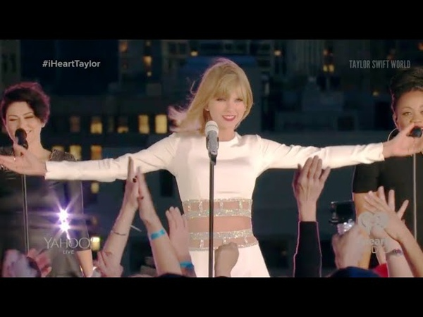 Taylor Swift Welcome To New York live at 1989 Secret Session with iHeartRadio 2014 10 27