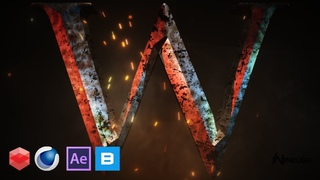 Create Degraded Chiseled Text using Cinema 4D / Redshift / After Effects & Megascans