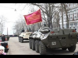 Украина, Зона АТО. Колонна бронетехники Ополчения. Август 2014.