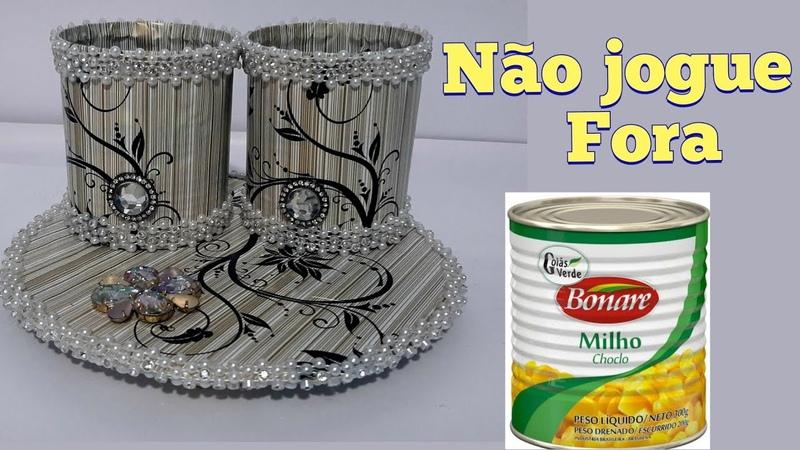 Reciclagem de lata de tomate faça você mesmo Não jogue fora DO LIXO AO LUXO
