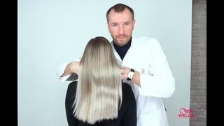 Эффектное окрашивание в холодный блонд