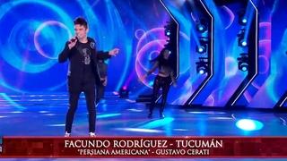 Facundo Rodrguez cant Persiana americana, de Gustavo Cerati