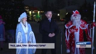 В Бежецке открыли новогоднюю елку