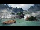 Природа Китая. Заставка Великолепный водопад, приютивший царственных водоплавающих птиц