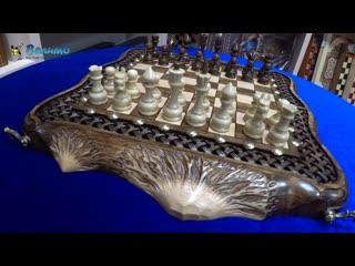 Шахматы нарды шашки резные Вершина Арарата премиум