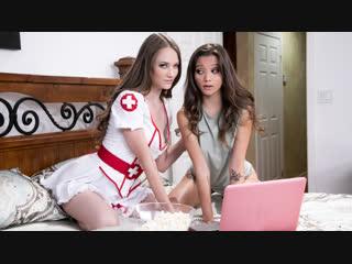 Samantha Hayes, Alex De La Flor (Scary Movie Night) [Brunette, Redhead, Natural Tits, Lesbian, Model Debut, 1080p]