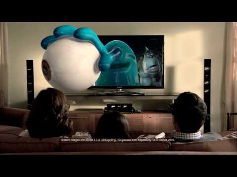 Monsters vs Aliens 3D commercial for Samsung