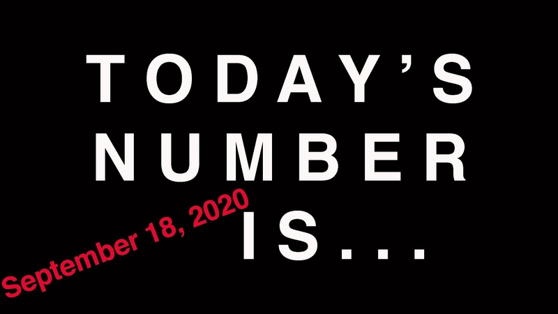 TODAY'S NUMBER IS 9 18 20