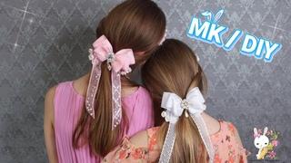 """Украшение в прическу """"Нежная фея"""" 🐮  МК DIY Hair decoration """"Delicate fairy"""" kanzashi"""
