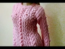 Вязание ажурного джемпера. Knitting of a beautiful jumper.